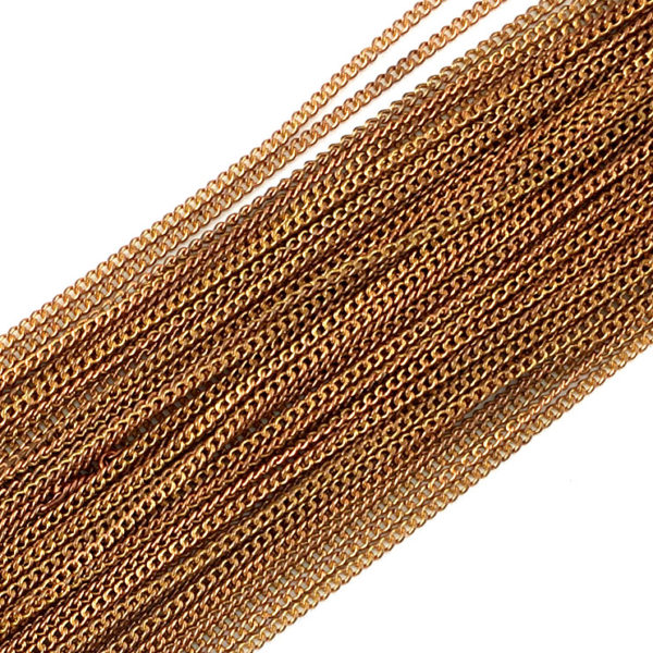 Long Curb Chain Copper