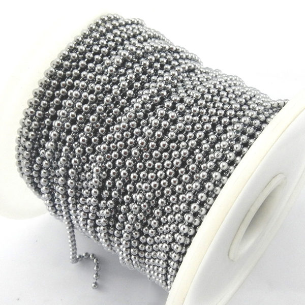 Ball Chain Stainless Steel Decorative on Reel