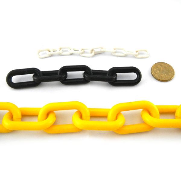 Plastic Chain in white, black, yellow