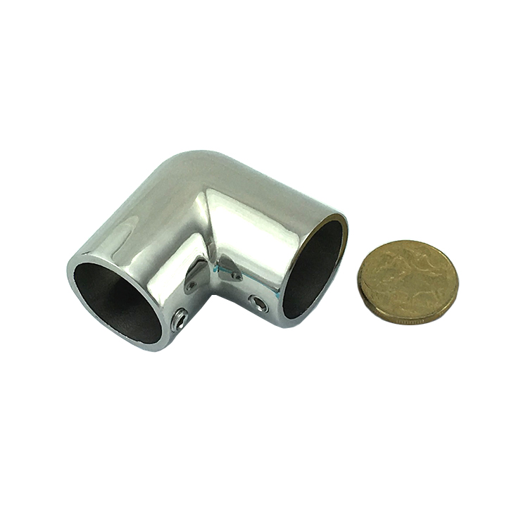 Rail fitting stainless steel degree elbow marine