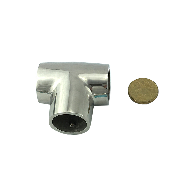 Rail fitting stainless steel way tee marine products
