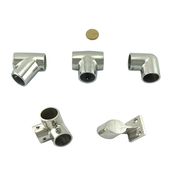 Rail fitting stainless steel stanchion chain wire